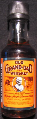 Old Grand-Dad whiskey - minibottles