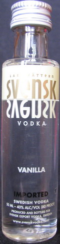 Svensk vodka vanilla